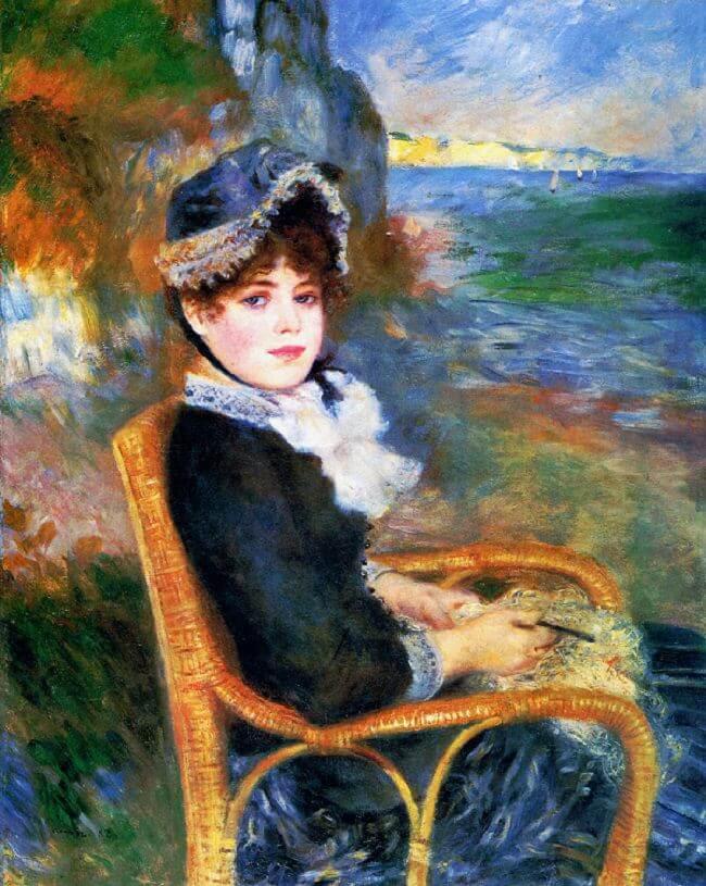 By The Seashore By Pierre Auguste Renoir
