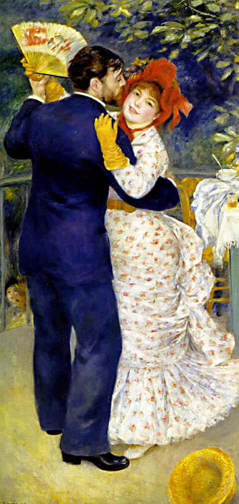 Dance in the country - by Pierre-Auguste Renoir