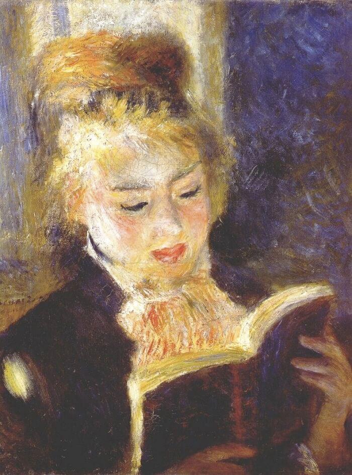 Girl reading by pierre auguste renoir for Auguste renoir