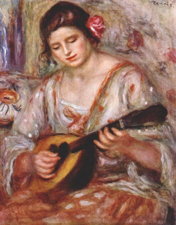 Girl with a Mandolin - by Pierre-Auguste Renoir