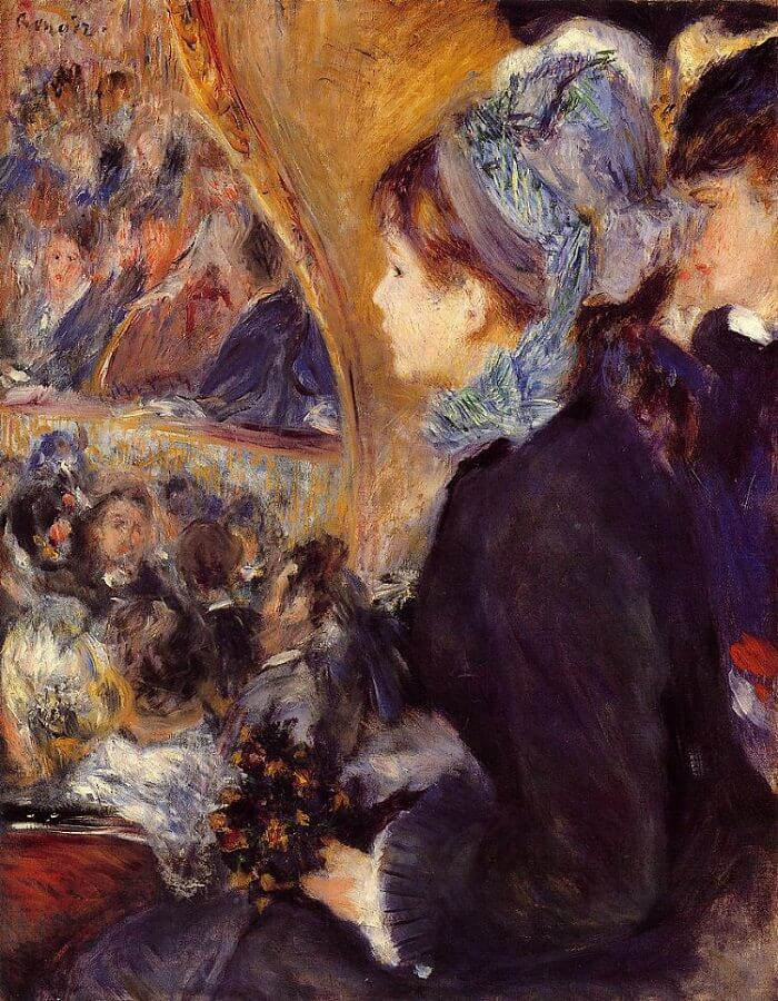 Her First Evening Out - by Pierre-Auguste Renoir