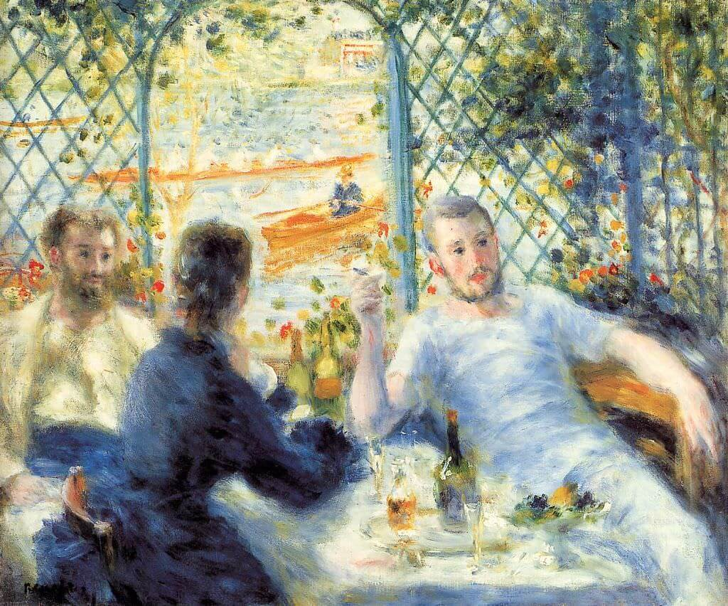 Lunch at the Restaurant Fournaise - by Pierre-Auguste Renoir