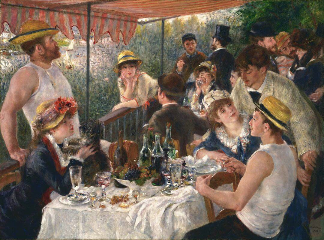 Luncheon of the boating party - by Pierre-Auguste Renoir
