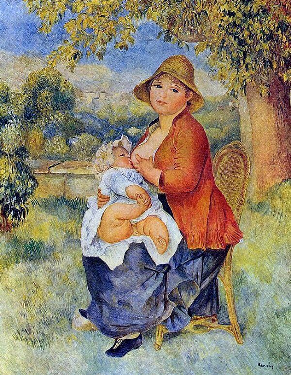 Mother and Child - by Pierre-Auguste Renoir