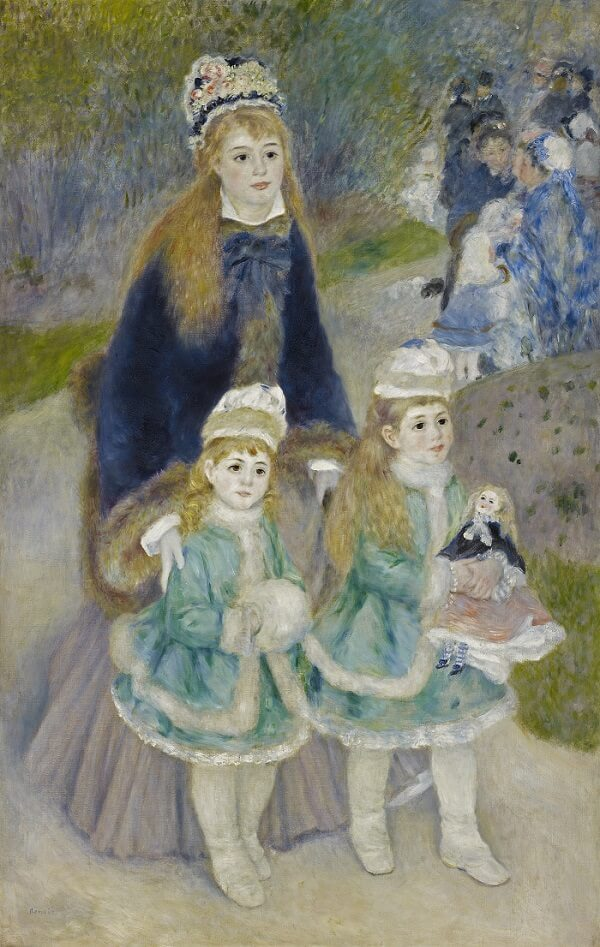 Mother and Children - by Pierre-Auguste Renoir
