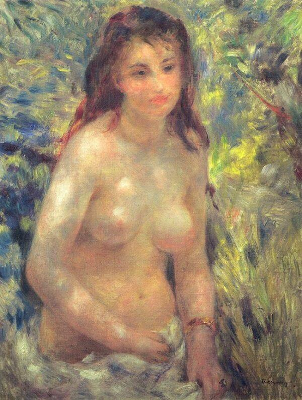 Nude in the Sunlight - by Pierre-Auguste Renoir