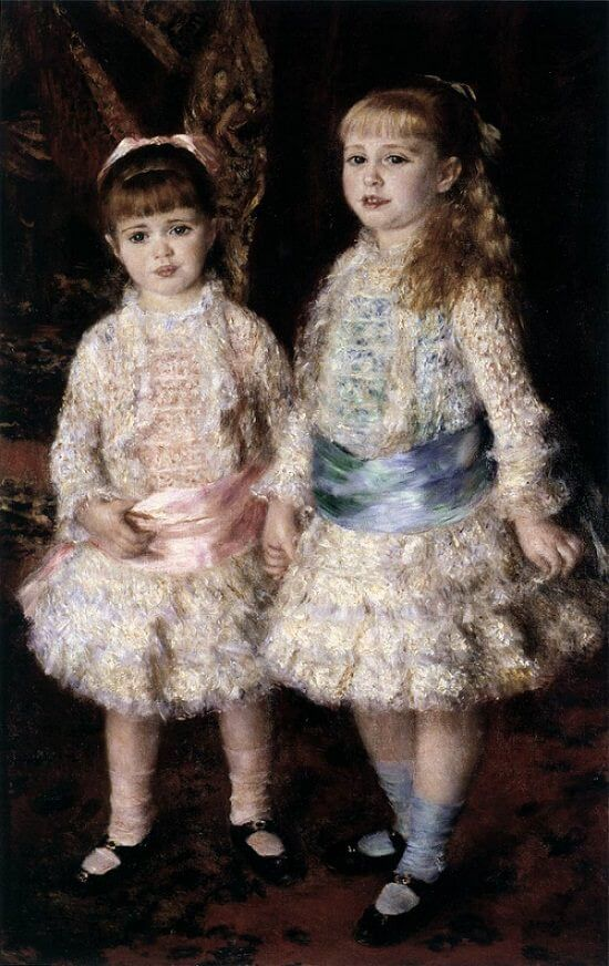 Pink and blue - by Pierre-Auguste Renoir