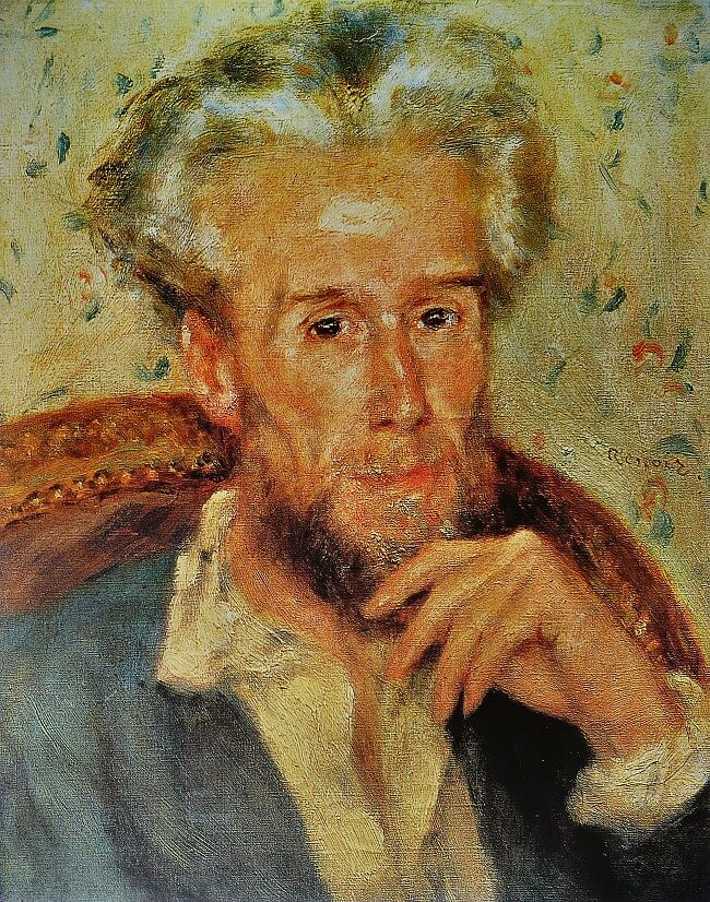 Portrait of Victor Chocquet - by Pierre-Auguste Renoir