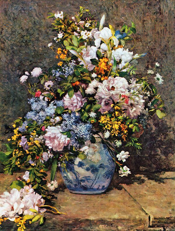Spring Bouquet - by Pierre-Auguste Renoir
