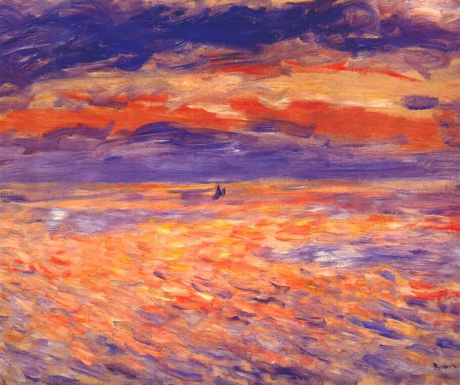 Auguste Renoir. Sunset at Sea