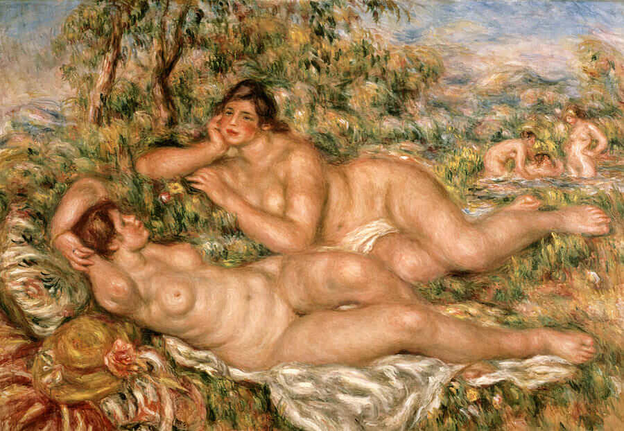 The bathers - by Pierre-Auguste Renoir