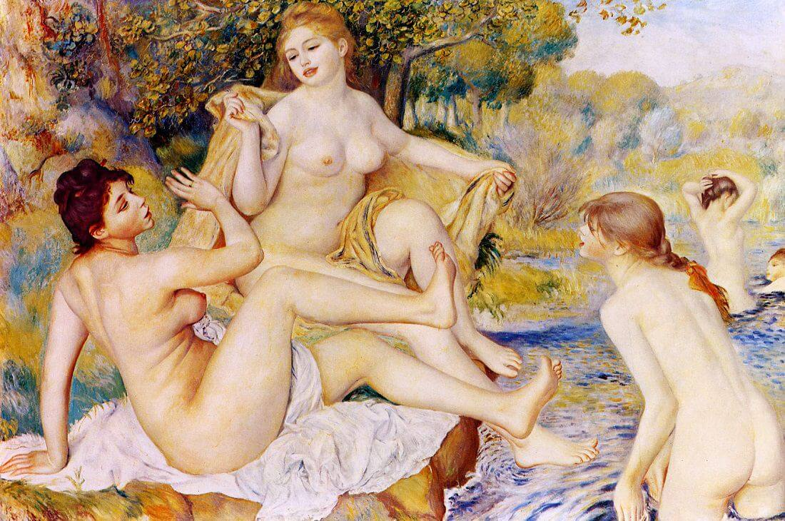 The large bathers - by Pierre-Auguste Renoir