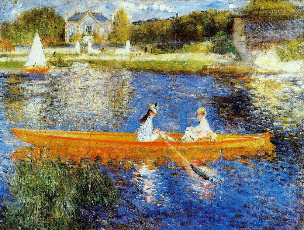The skiff by pierre auguste renoir for Auguste renoir