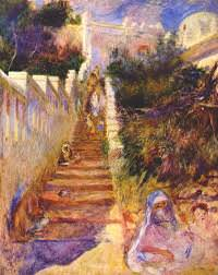 The Stairway, Algiers - by Pierre-Auguste Renoir