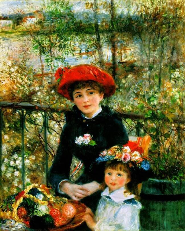 Two sisters - by Pierre-Auguste Renoir