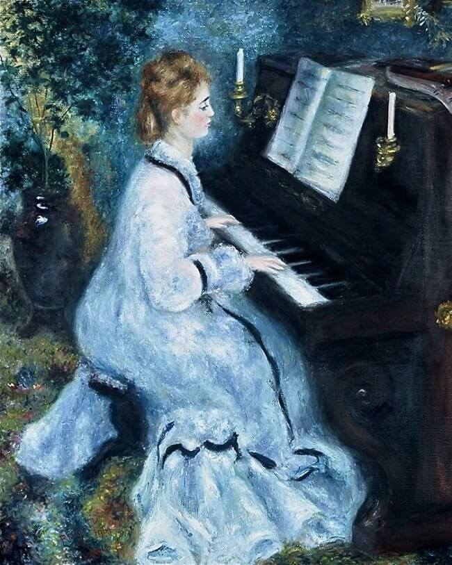 Woman at the piano - by Pierre-Auguste Renoir